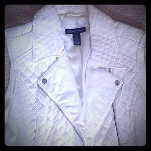 LEATHER QUILTED MOTTO VEST